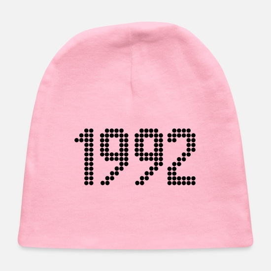 Birthday Baby Caps - 1992, Numbers, Year, Year Of Birth - Baby Cap light pink