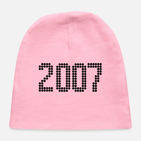 Birthday Baby Caps - 2007, Numbers, Year, Year Of Birth - Baby Cap light pink