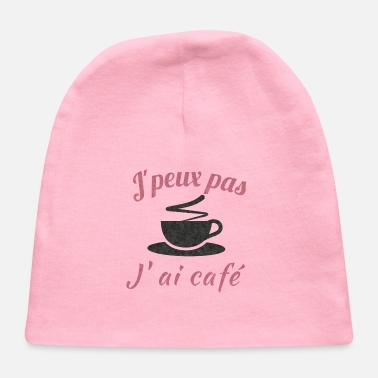 t-shirt I can´t It´s coffee time red and black - Baby Cap