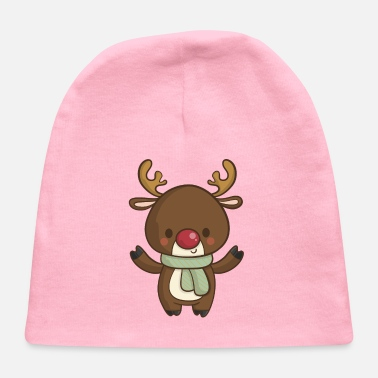 Reindeer Cute Christmas Reindeer Cartoon - Baby Cap