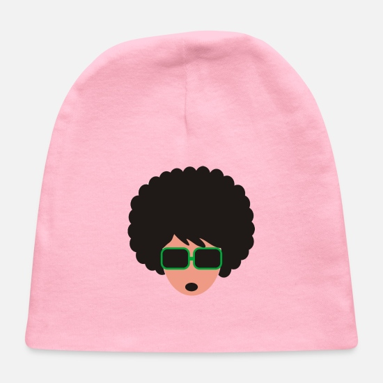 Hair Baby Caps - Afro - Baby Cap light pink