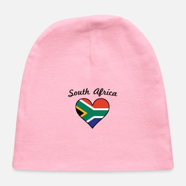 South Africa South Africa Flag Heart - Baby Cap