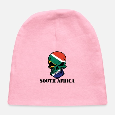 South Africa South African Flag Skull South Africa - Baby Cap