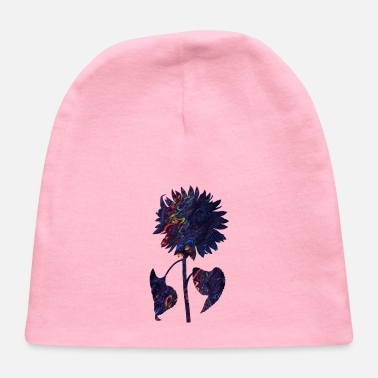Flora abstract sunflower - Baby Cap