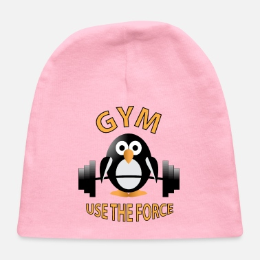 Barbell Penguin with a barbell - Baby Cap