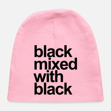 Black Black mixed with black - Baby Cap