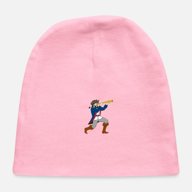 Spyglass Pirate Looking Spyglass Isolated Cartoon - Baby Cap