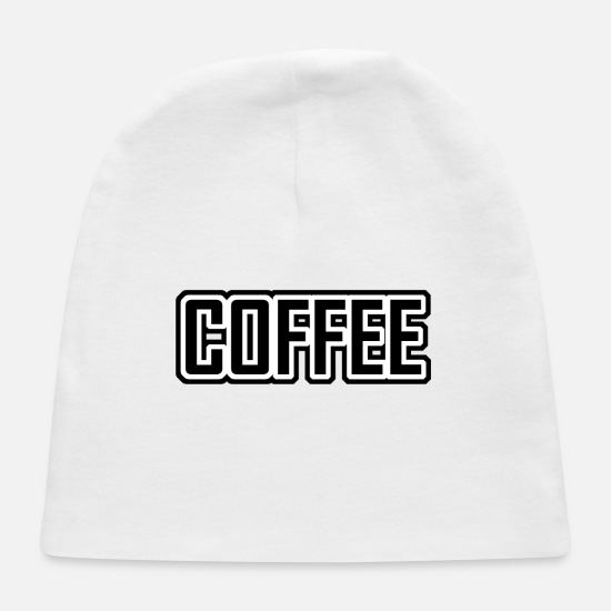 Gift Idea Baby Caps - Coffee - Baby Cap white