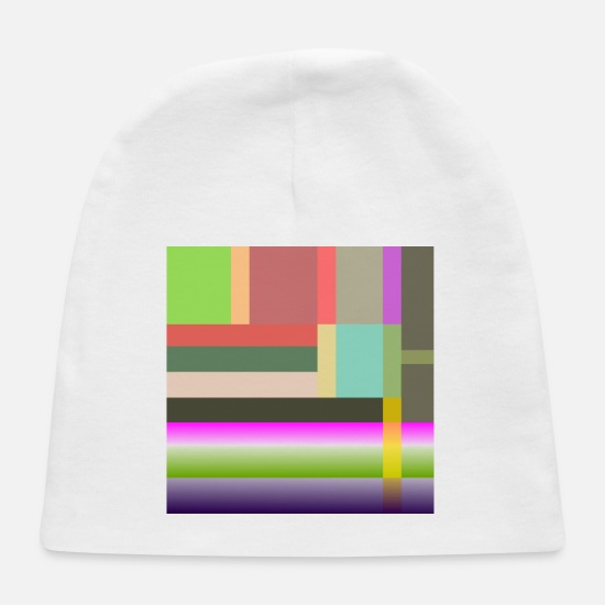 Alive Baby Caps - Multicolored geometric bands - Baby Cap white