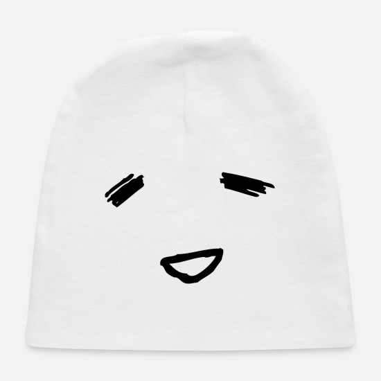 Face Baby Caps - Bliss Face - Baby Cap white