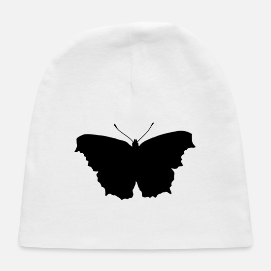 Fly Baby Caps - Butterfly Silhouette - Baby Cap white