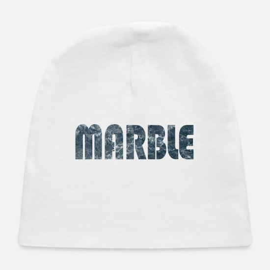 Birthday Baby Caps - Marble Word - Baby Cap white