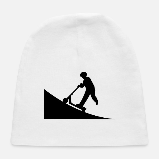 Halfpipe Baby Caps - Scooter,scooters,stunt scooters, kickboard - Baby Cap white
