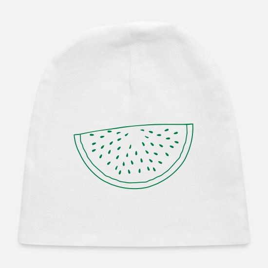 Cool Story Baby Caps - summer half melon snack circle cool watermelon rou - Baby Cap white