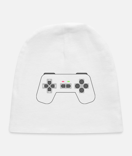 Gamepad Baby Hats - Game Controller - Baby Cap white
