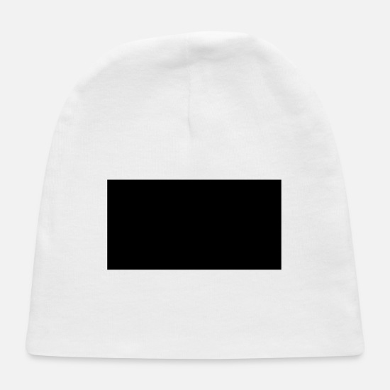 Square Baby Caps - rectangle - Baby Cap white