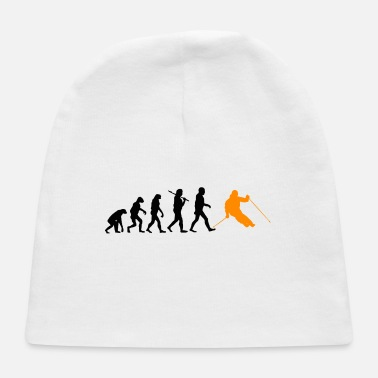 Ski Resort Evolution ski skiing sports darwin gift present - Baby Cap