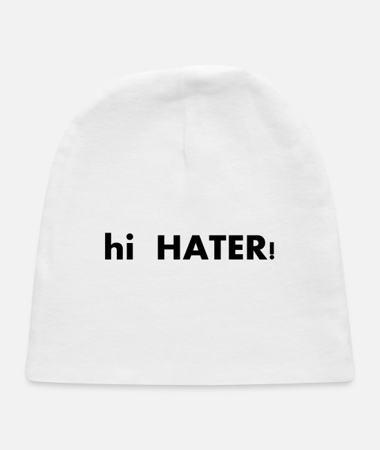 Morning Baby Hats - hi HATER - Baby Cap white