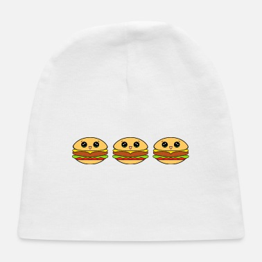 Lunch Cute happy yummy Kawaii burgers cartoon - Baby Cap