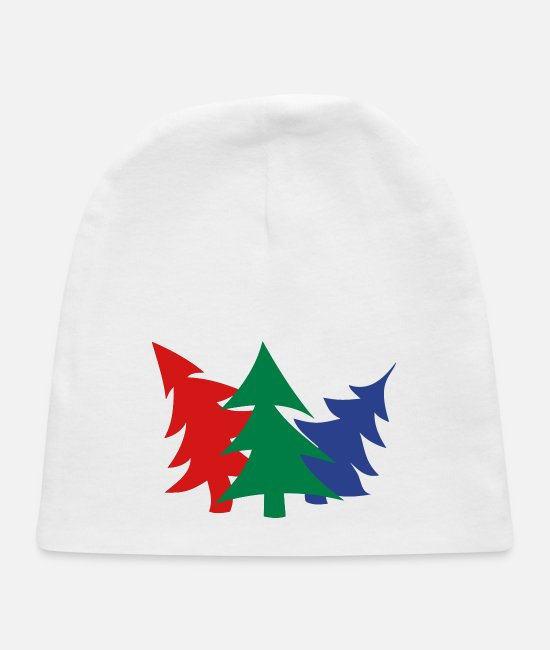 Spruce Baby Hats - Trees - Baby Cap white