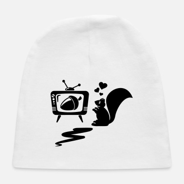 squirrel in love with an acron in tv - Baby Cap