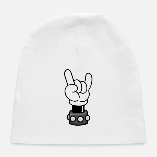Mickey Baby Caps - Rock N Roll - Baby Cap white