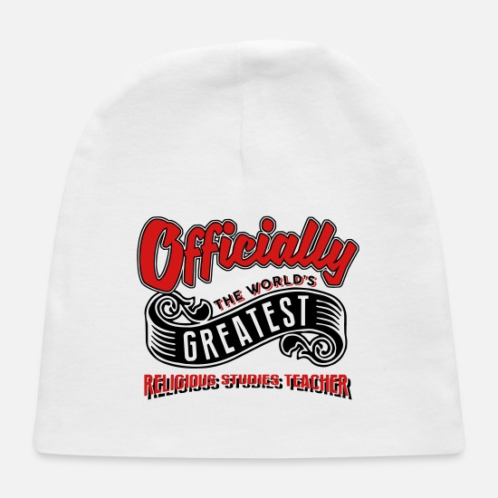 Religious Baby Caps - officially the Worlds greatest religious - Baby Cap white