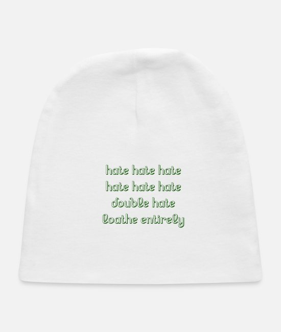 Hate Football Baby Hats - hate hate hate - Baby Cap white