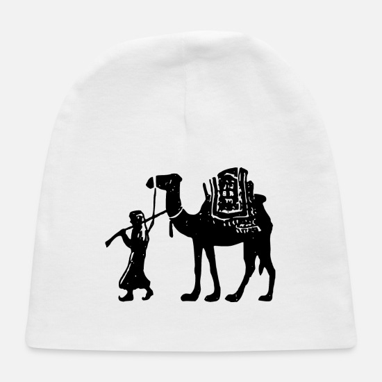 Wife Baby Caps - Man With Camel - Baby Cap white