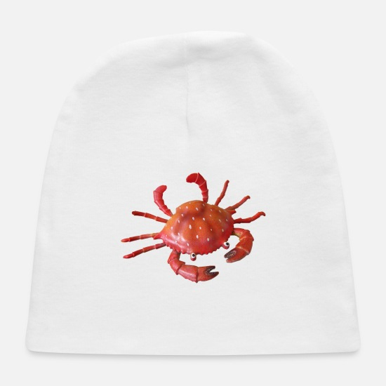 Seafood Baby Caps - crab - Baby Cap white