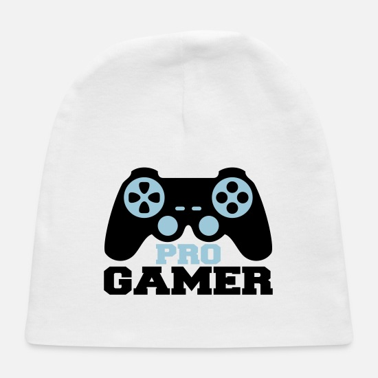 Game Baby Caps - Pro Gamer Logo - Baby Cap white