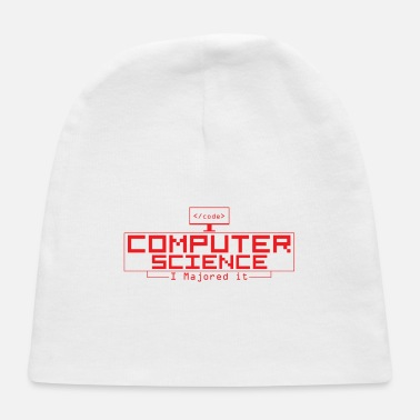 Computer Science Computer Science Red - Baby Cap