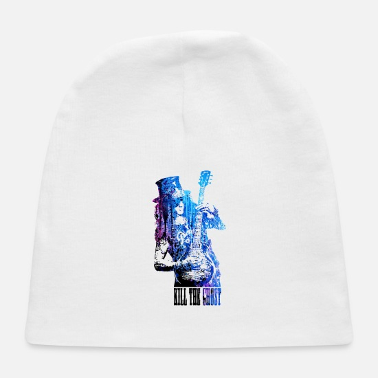 Music Baby Caps - ROCK ART - Baby Cap white