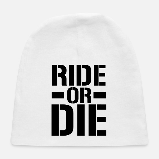 Prison Baby Caps - Ride Or Die - Baby Cap white