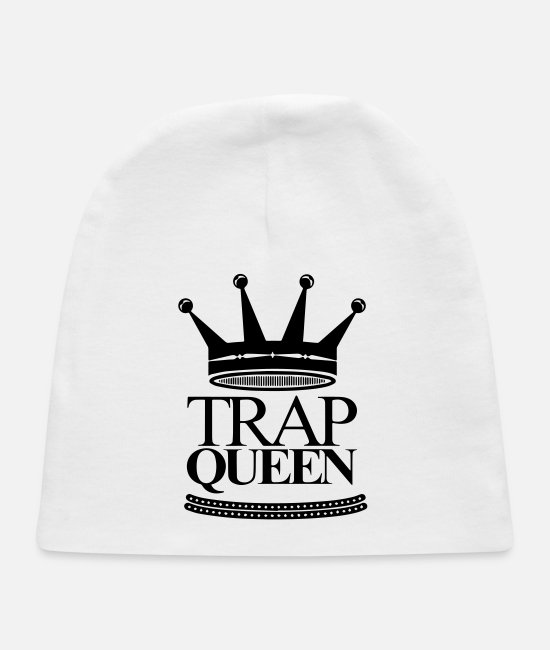 Money Baby Hats - trap queen - Baby Cap white