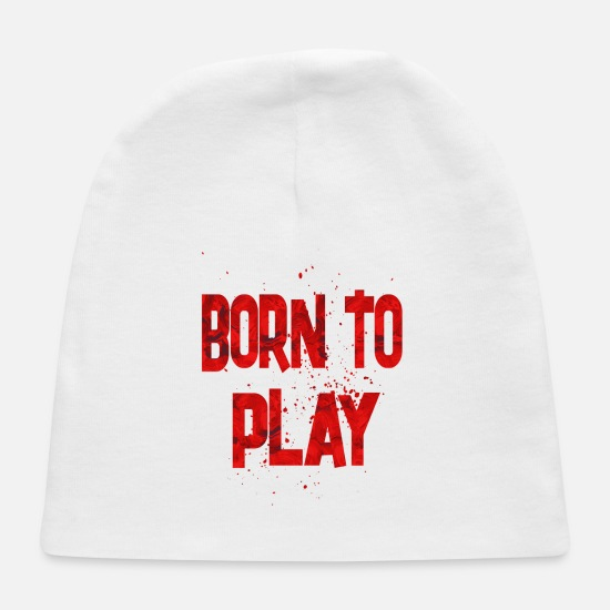Birthday Baby Caps - Born To Play - Baby Cap white