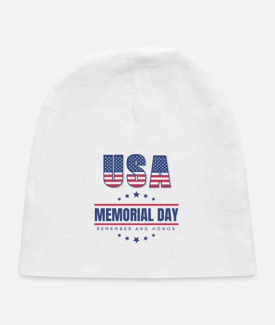 Day Of The Week Baby Hats - Memorial Day T Shirt Memorial Day 2020 T Shirt - Baby Cap white