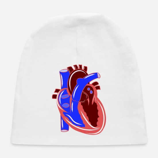 Studies Baby Caps - Colorful Realistic Heart Illustration - Baby Cap white