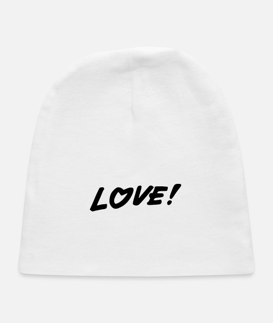 Heart Baby Hats - love - Baby Cap white