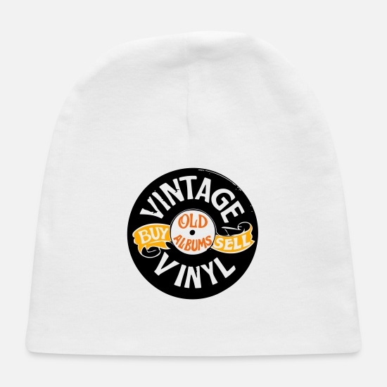 Song Baby Caps - Vintage Vinyl Big - Baby Cap white