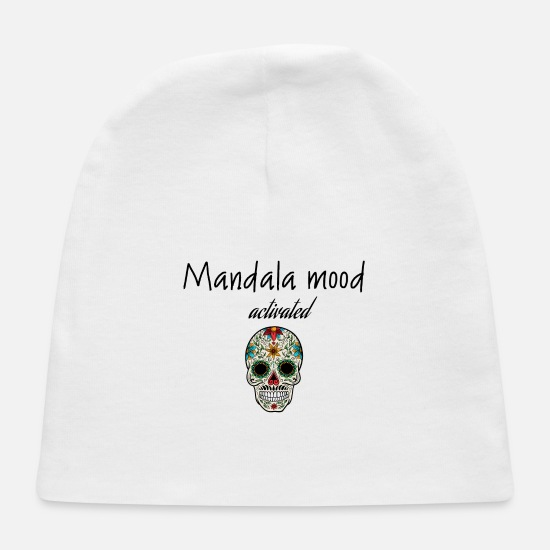 Mood Baby Caps - Mandala mood activated - Baby Cap white