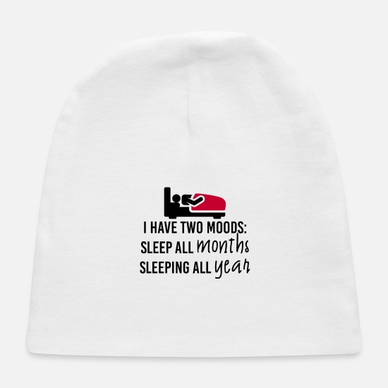 Sleep Baby Caps - Two moods - Baby Cap white