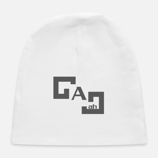 Quote Baby Caps - G A J ah Quote Style - Baby Cap white
