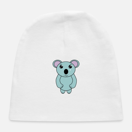Koala Baby Caps - Cute Crying Koala for Australia Save the Koala - Baby Cap white