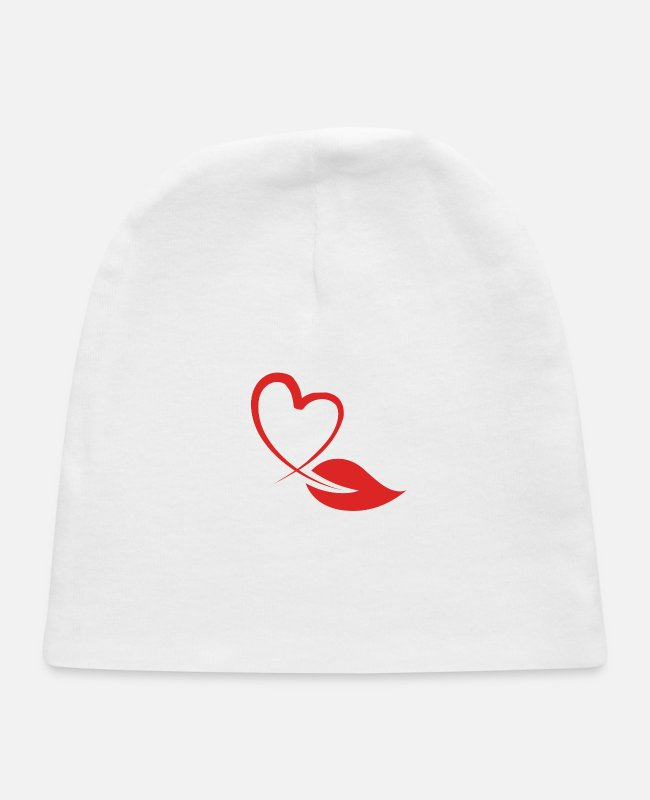 Sticker Baby Hats - lovers - Baby Cap white
