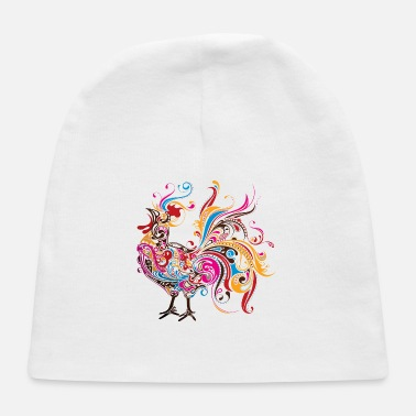 Rooster Abstract Rooster - Baby Cap