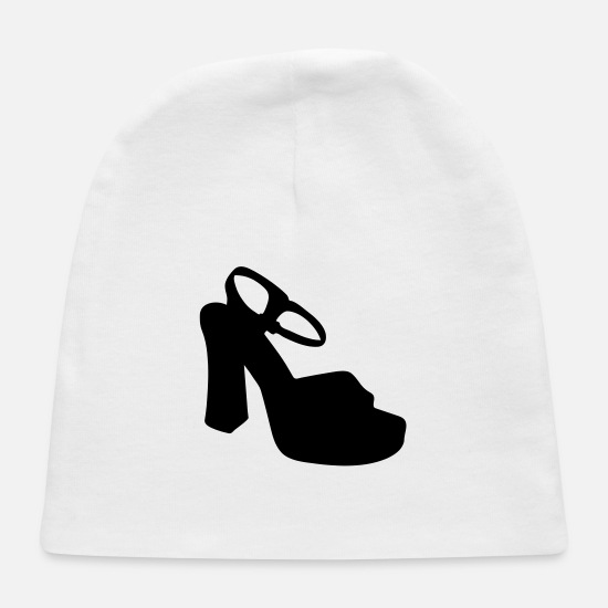Woman Power Baby Caps - Vector highheels Silhouette - Baby Cap white