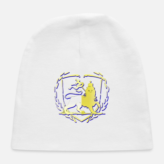 Rasta Baby Caps - Lion Of Judah Rasta Reggae Roots Clothing - Baby Cap white