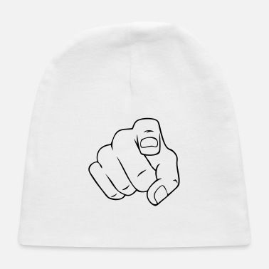 Pointing Finger hand point finger - Baby Cap