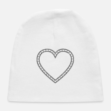 Lovely Double Celtic Knot Heart - Baby Cap